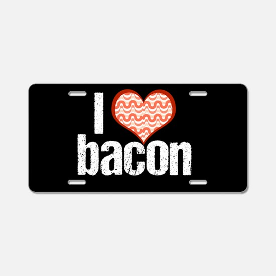 I Heart Bacon Aluminum License Plate