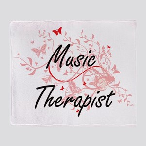 Music Therapist Artistic Job Design Throw Blanket