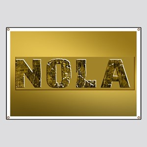 NOLA BLACK AND GOLD 4 Banner