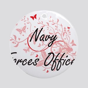 Navy Forces Officer Artistic Job De Round Ornament