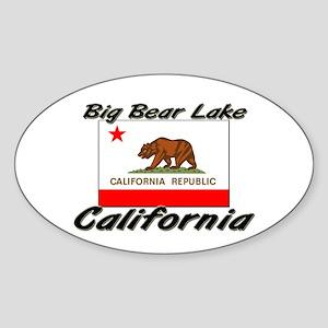 Big Bear Lake California Oval Sticker