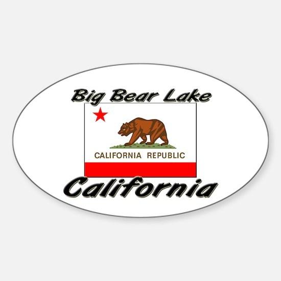 Big Bear Lake California Oval Decal