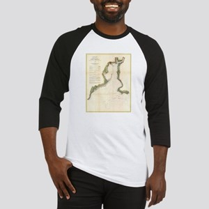 Vintage Map of New Haven Harbor (1 Baseball Jersey