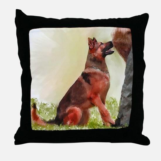 German Shepherd Protect 1 Throw Pillow