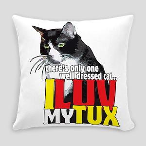 I Love My Tuxedo Cat Everyday Pillow