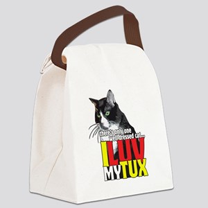 I Love My Tuxedo Cat Canvas Lunch Bag