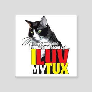 I Love My Tuxedo Cat Sticker