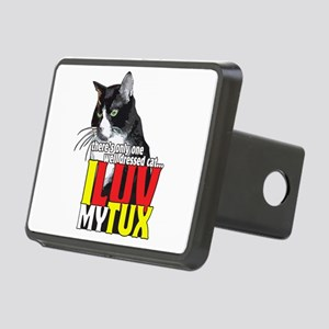 I Love My Tuxedo Cat Rectangular Hitch Cover