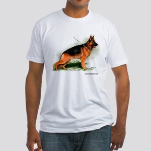 German Shepherd Obedience Sta Fitted T-Shirt