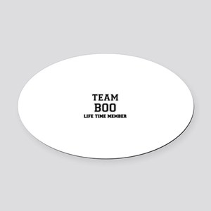 Team BOO, life time member Oval Car Magnet