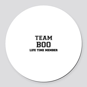 Team BOO, life time member Round Car Magnet