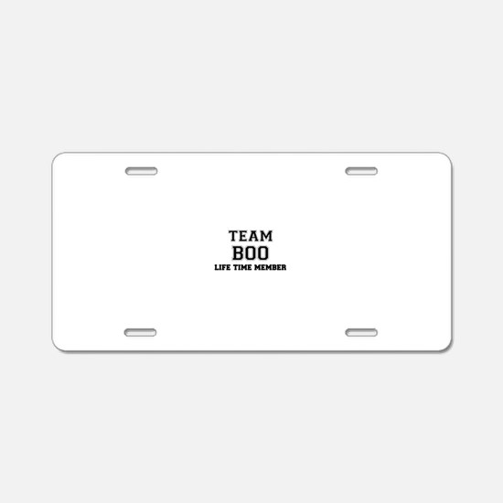 Team BOO, life time member Aluminum License Plate