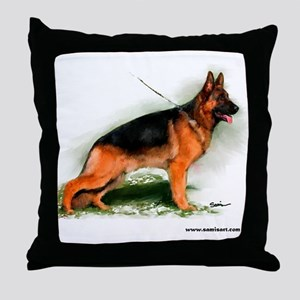 German Shepherd Obedience Sta Throw Pillow