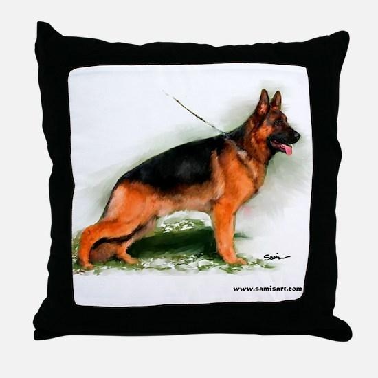 German Shepherd Obedience Sta Throw Pillow