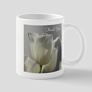 White Tulips Thank you Mugs