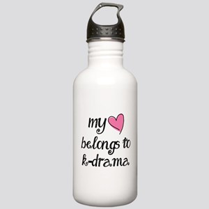 My Heart Belongs to K-Drama Water Bottle