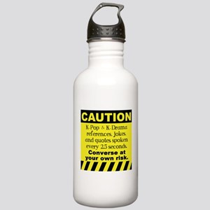 Caution K spoken here Water Bottle