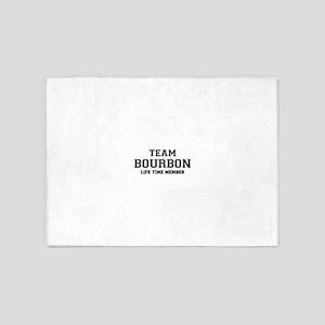 Team BOURBON, life time member 5'x7'Area Rug