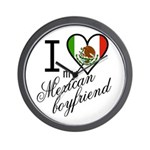I Love Heart my Mexican Boyfr Wall Clock