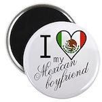 I Love Heart my Mexican Boyfr Magnet
