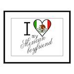I Love Heart my Mexican Boyfr Large Framed Print