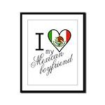 I Love Heart my Mexican Boyfr Framed Panel Print