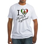 I Love Heart my Mexican Boyfr Fitted T-Shirt
