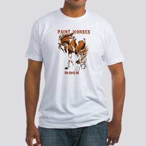 Paint Horses Rock Fitted T-Shirt