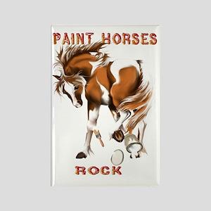 Paint Horses Rock Rectangle Magnet
