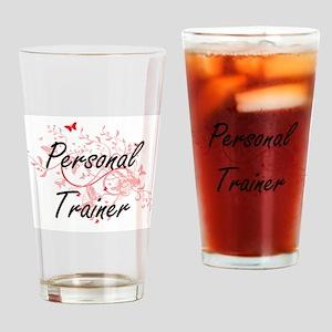 Personal Trainer Artistic Job Desig Drinking Glass