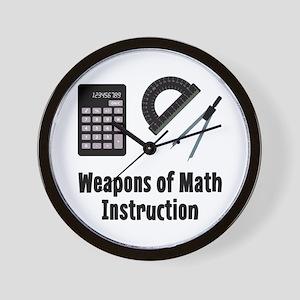 Math Weapons Wall Clock