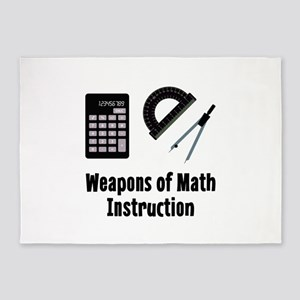 Math Weapons 5'x7'Area Rug