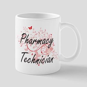 Pharmacy Technician Artistic Job Design with Mugs