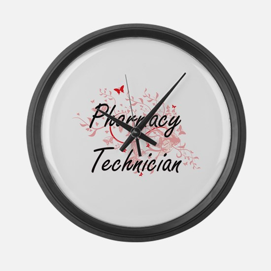 Pharmacy Technician Artistic Job Large Wall Clock