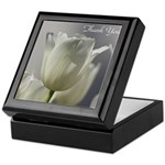 White Tulips Thank you Keepsake Box