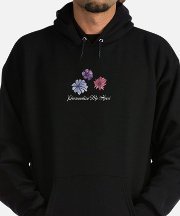 Feminine Watercolor Flowers to Custo Hoodie (dark)