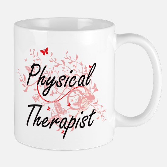 Physical Therapist Artistic Job Design with B Mugs