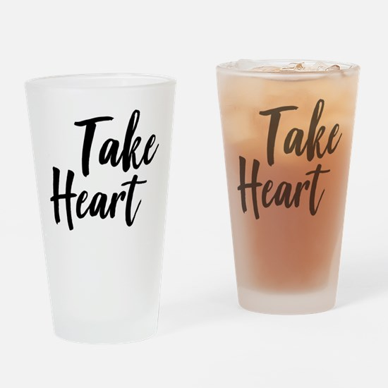 Take Heart Drinking Glass