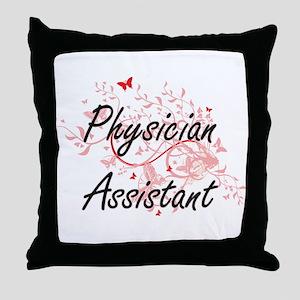 Physician Assistant Artistic Job Desi Throw Pillow