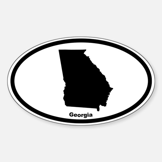 Georgia State Outline Oval Decal