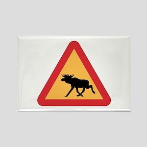 Caution Elks, Sweden Rectangle Magnet