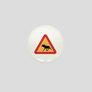 Caution Elks, Sweden Mini Button