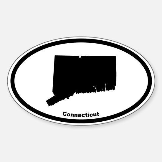 Connecticut State Outline Oval Decal