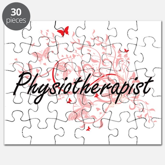 Physiotherapist Artistic Job Design with Bu Puzzle