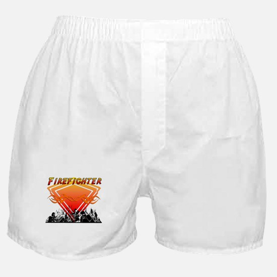 Firefighter Scene Boxer Shorts
