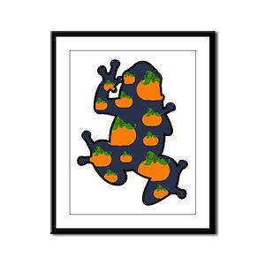 Pumpkin Frog Framed Panel Print