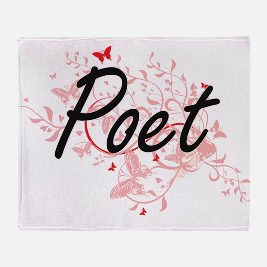 Poet Artistic Job Design with Butter Throw Blanket
