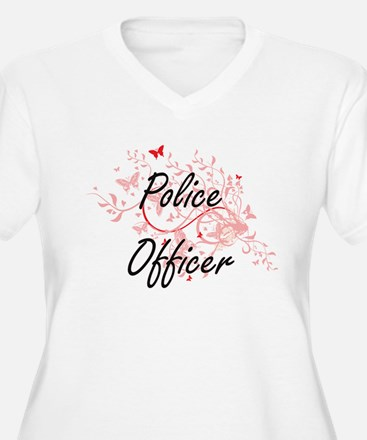 Police Officer Artistic Job Desi Plus Size T-Shirt