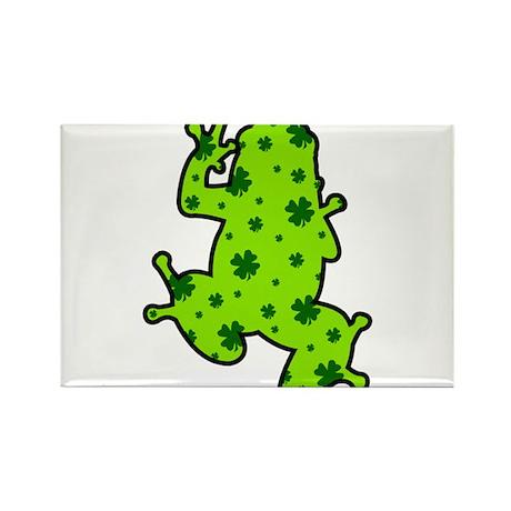 Shamrock Frog Rectangle Magnet (100 pack)