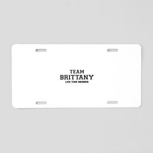Team BRITTANI, life time me Aluminum License Plate